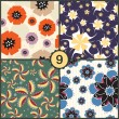 Set of floral seamless patterns — Stock Vector #33286537