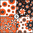 Set of  floral seamless patterns — 图库矢量图片