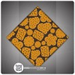 Decorative tile with Cookies — Imagen vectorial