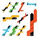 Set of vector infographic arrows — Stock Vector #33287423