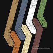 Frecce grunge vettoriale — Vettoriale Stock