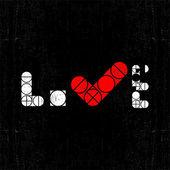 Walentynki karty z słowo miłość. — Wektor stockowy