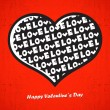 Valentines day card with heart — Vettoriali Stock