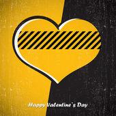 Carte de Saint Valentin avec coeur — Vecteur