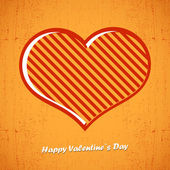 Valentines day card with heart — Stock Vector