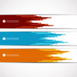 Set of three decorative banners. — Stock Vector #36379865