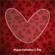 Valentine day card with floral background — Stockvectorbeeld