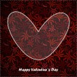 Valentine day card with floral background — Vektorgrafik