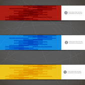 Set of three decorative banners. — Stock Vector