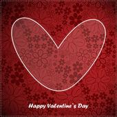 Carta del giorno di san valentino con sfondo floreale — Vettoriale Stock