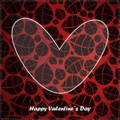 Valentine day card with floral background — Stockvector
