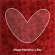 Valentine day card with floral background — Imagens vectoriais em stock
