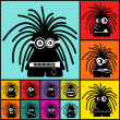 Set of twelve color monsters — Vettoriale Stock #36380097