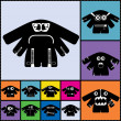 Set of twelve color monsters — Vetorial Stock #36380101