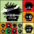 Set of twelve color monsters — Vector de stock #36380105