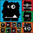 Set of twelve color monsters — Wektor stockowy #36380109