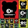 Set of twelve color monsters — ストックベクター #36380111