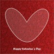 Valentine day card with floral background — Vettoriali Stock