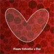 Valentine day card with floral background — Imagen vectorial