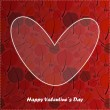 Valentine day card with floral background — Image vectorielle