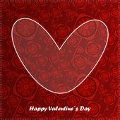 Walentynki dzień karta kwiatowy tła — Wektor stockowy