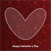 Valentine day card with floral background — Cтоковый вектор