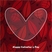 Valentine day card with floral background — Stock Vector