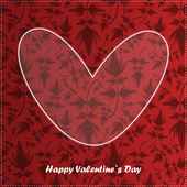 Valentine day card with floral background — Vector de stock