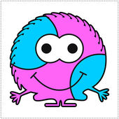 Cute monster isolated on white — Stock Vector