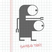 Монстр на бумаге — Cтоковый вектор