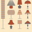 Set of ten different lamps — Stockvektor  #41273269