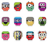 Monsters - vector set — Stock Vector