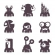 Set of cute monsters. vector — Stock Vector