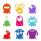 Set of cute monsters. vector — Stock Vector