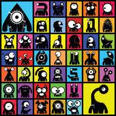 Verzameling van cute monsters. vector — Stockvector