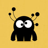 Monster on grunge background — 图库矢量图片