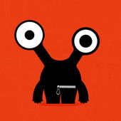 Monster on grunge background — Stock Vector