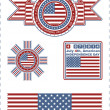 Independence Day - 4 of July - Vector set of design elements — Stock Vector #43830241