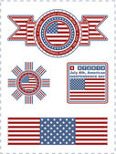 Independence Day - 4 of July - Vector set of design elements — Stock vektor
