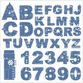 Steam punk alphabet — Stock Vector