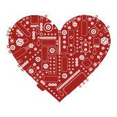 Steam punk heart — Stock Vector