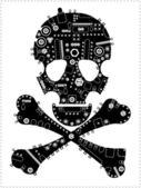 Steam punk skull — Stock Vector