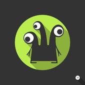 平的怪物 — 图库矢量图片
