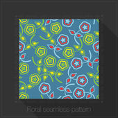 Floral seamless pattern in text frame — Vector de stock
