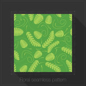 Floral seamless pattern in text frame — Stock Vector