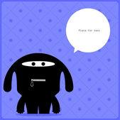Cartoon monster met bericht cloud — Stockvector