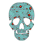 Floral skull isolated on white — Stock Vector
