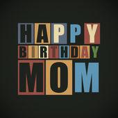 Retro Happy birthday card. — Stock Vector