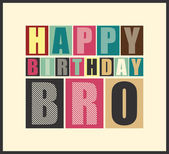 Retro Happy birthday card. — Vetorial Stock