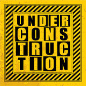 Under construction text. — Stock Vector
